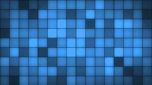 Artistic Blue Digital Art Pattern Square 1920x1080 Wallpaper