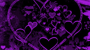 Artistic Heart Purple 2800x2100 Wallpaper