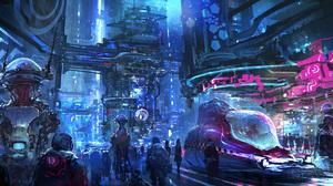 Sci Fi City 2800x1200 Wallpaper