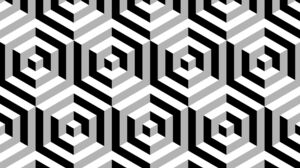 Digital Art Abstract 3D Abstract 3D Cube Monochrome Pattern Optical Illusion 2400x1800 Wallpaper