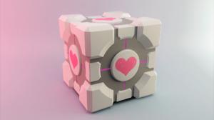 Artistic Cube Heart Pink White 1920x1200 Wallpaper