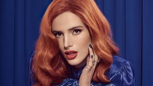 Actress American Bella Thorne Brown Eyes Face Lipstick Redhead 2224x1251 wallpaper