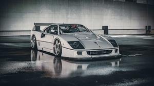 White Cars Car Vehicle Ferrari Ferrari F40 1920x1201 Wallpaper