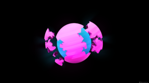 Minimalism Planet Pink Blue 3840x2160 Wallpaper
