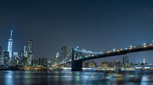 Brooklyn Bridge Manhattan New York 6416x2204 Wallpaper