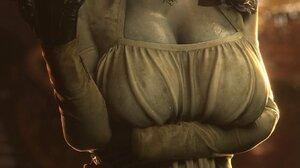 Lady Dimitrescu Resident Evil Resident Evil 8 Resident Evil 8 Village Video Game Art Video Game Char 1152x2048 Wallpaper