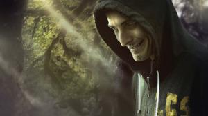 Looking At Viewer Evil Smug Face Resident Evil Video Games Beards Beard Men Hoods Video Game Horror  1880x1280 Wallpaper