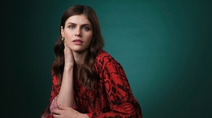 Actress Alexandra Daddario American Blue Eyes Brunette Girl 2200x1219 wallpaper