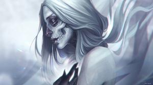 Fantasy Art Artwork Digital Art Skull White Hair 1920x1080 Wallpaper