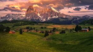 Mountain Hill Alps Meadow Hut 2048x1315 wallpaper