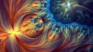 Abstract Artistic Colors Digital Art Fractal 1920x1200 Wallpaper