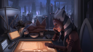 Ahsoka Tano Star Wars Fictional Character Digital Art Fan Art Artwork Science Fiction 2D Coruscant W 2560x1440 Wallpaper