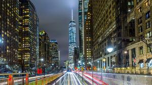 Building City Manhattan New York Night One World Trade Center Time Lapse Usa 2048x1365 Wallpaper
