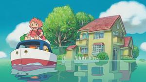 Anime Ponyo 2133x1154 Wallpaper