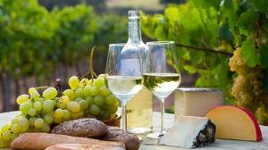Bread Cheese Glasses Grapes Still Life Wine 2000x1181 Wallpaper