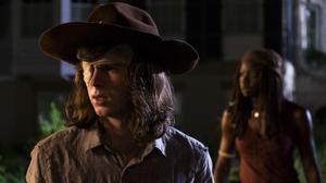 Carl Grimes Chandler Riggs Danai Gurira Michonne The Walking Dead 4500x3000 wallpaper