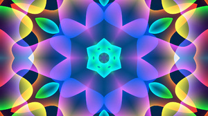 Artistic Colors Digital Art Kaleidoscope Pattern Shapes 1920x1200 Wallpaper