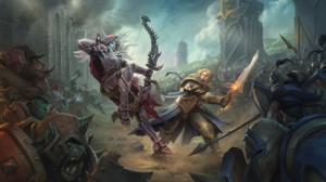 World Of Warcraft Battle For Azeroth Sylvanas Windrunner Anduin Wrynn Video Games World Of Warcraft  2560x1440 Wallpaper