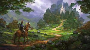 Horse Link The Legend Of Zelda Breath Of The Wild 3000x1490 wallpaper