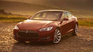 Car Electric Car Full Size Car Grand Tourer Luxury Car Red Car Tesla Model S P85 1920x1080 Wallpaper