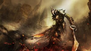 Armor Dark Fire Sword Warrior 1920x1080 wallpaper