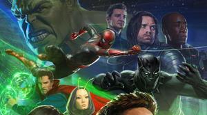Benedict Cumberbatch Black Panther Marvel Comics Chadwick Boseman Doctor Strange Don Cheadle Hawkeye 2802x1576 Wallpaper