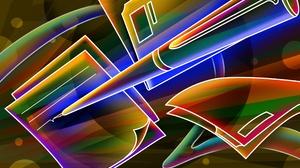 Abstract Artistic Cgi Colors Pen 2560x1600 Wallpaper