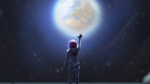 Artwork Planet Space Space Art Science Fiction Science Fiction Women Arms Up Standing 1920x1769 Wallpaper