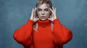 Blonde Blue Eyes Model Woman 2048x1376 wallpaper