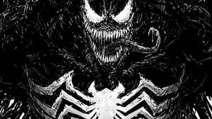 Venom Antiheroes Comic Art Monochrome Creature Artwork Marvel Comics 2480x3507 Wallpaper