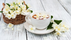 Cup Drink Flower Still Life Tea White Flower 3311x2159 Wallpaper