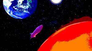 Earth Mars Moon Rocket Space 1500x1449 Wallpaper