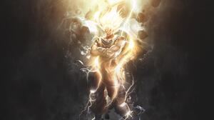 Dragon Ball Goku Super Saiyan 2 Glow Glowing Eyes 1920x1080 wallpaper