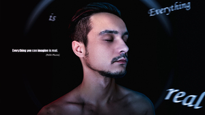 Arlamovsky Simple Photography Black Background Hair Closed Eyes Beard Text Light Effects Mud Men 2000x1325 wallpaper