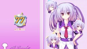 Sevens And Two Stars Meet Again Isuneha Aki Anime Series Anime Girls Multi Colored Hair Purple Hair  1920x1200 Wallpaper