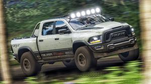 Forza Forza Games Forza Horizon 4 Vehicle Truck Ram RAM Rebel TRX Forest Offroad 4K 3840x2160 Wallpaper