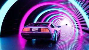 Car Retrowave Tunnel 1920x1080 wallpaper