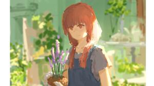 XilmO Anime Girls Flowers Anime 1677x1270 Wallpaper