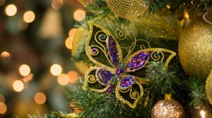 Christmas Ornaments Butterfly 2048x1365 wallpaper