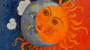 Sun Moon Eclipse Clouds 1920x1440 Wallpaper