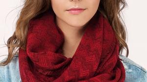 Women Model Blue Eyes Long Hair Brunette Scarf Jean Jacket 1000x1500 Wallpaper