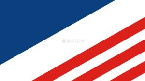 Flag USA Apple Inc Watch Computer 3440x1440 Wallpaper