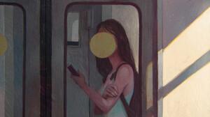 Artwork Digital Art Digital Painting Train Circle ArtStation 3000x3000 Wallpaper