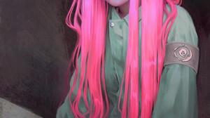 Mandy Jurgens Hair Portrait Digital Art Pink Hair Long Hair ArtStation 1500x2250 wallpaper