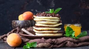 Apricot Breakfast Jam Pancake Still Life 4835x3456 Wallpaper