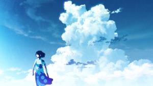 Cloud Girl Short Hair 1920x1253 wallpaper