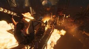 Shadow Of The Tomb Raider Fire Lara Croft Destruction Tomb Raider 1920x1080 Wallpaper