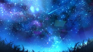Comet Grass Light Night Stars 2411x1500 Wallpaper