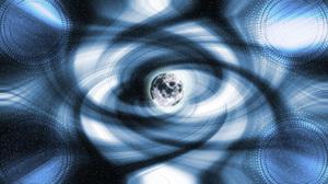 Supernova Aurora Borealis Space Planet Moon Stars 1366x768 Wallpaper