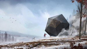 Sci Fi Landscape 2400x1079 Wallpaper